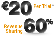 Ђ22 Per Trial, 60% Revenure Sharing