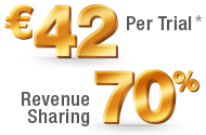 Ђ42 Per Trial, 70% Revenure Sharing